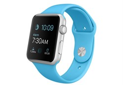 Apple Watch Sport 42 мм Silver Blue - фото 5362
