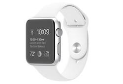 Apple Watch Sport 42 мм Silver White - фото 5364