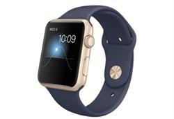 Apple Watch Sport 42 мм Gold Dark-Blue - фото 5366