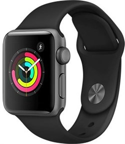 Apple Watch Series 3 38mm GPS Black - фото 6202